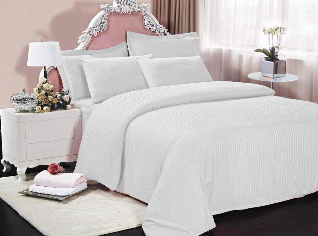 5f79ebc94cb7 Комплект постельного белья из страйп сатина, качество люкс, бежевый